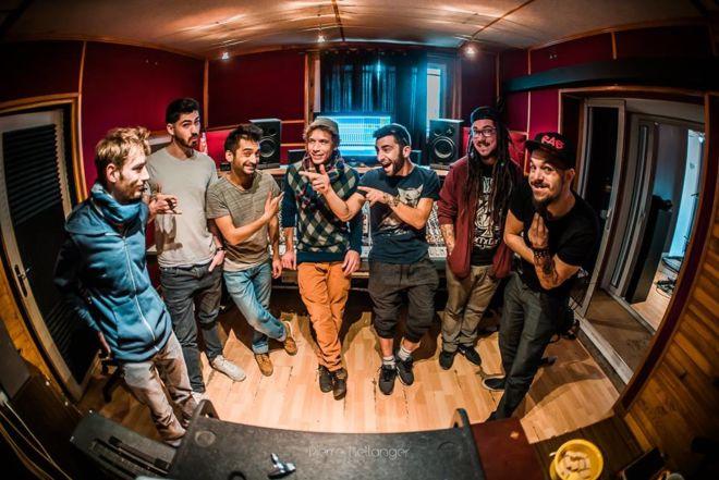 Groupe La petite fumée au studio d'enregistrement à toulouse