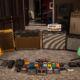 set up ampli guitare électrique du studio d'enregistrement